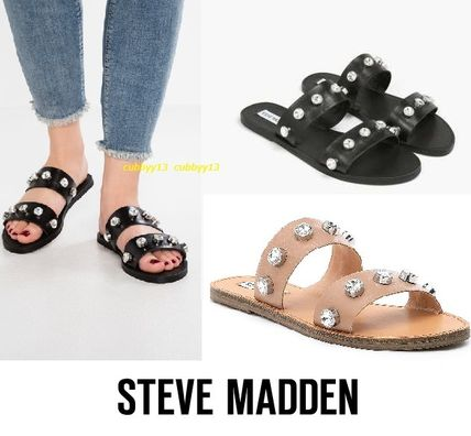 4c083d88eb4 Steve Madden. Open Toe Casual Style Street Style Plain Leather Sandals  2018  SS
