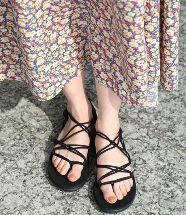 Open Toe Casual Style Street Style Plain Sport Sandals