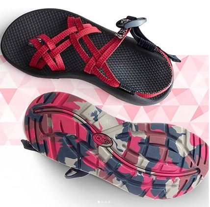 Camouflage Open Toe Casual Style Blended Fabrics