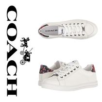 Coach Flower Patterns Casual Style Street Style Plain