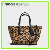 Coach Leopard Patterns 2WAY Leather Handbags
