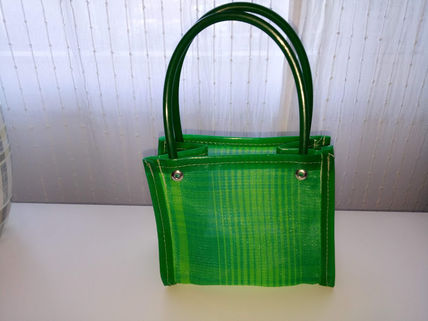 Stripes Casual Style Handmade Bags