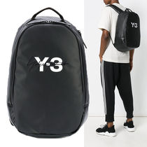 Y-3 Street Style A4 Plain Backpacks