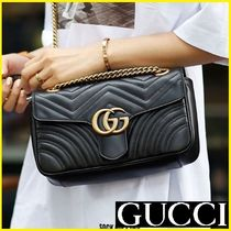 GUCCI Heart 2WAY Chain Leather Messenger & Shoulder Bags