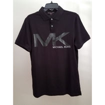 Michael Kors Plain Cotton Short Sleeves Polos