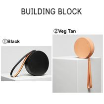 Building Block Casual Style Plain Leather Bags