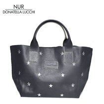 NUR BY DONATELLA LUCCHI Star Casual Style A4 Leather Totes