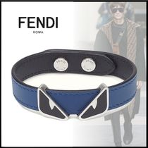 FENDI BAG BUGS Plain Leather Bracelets