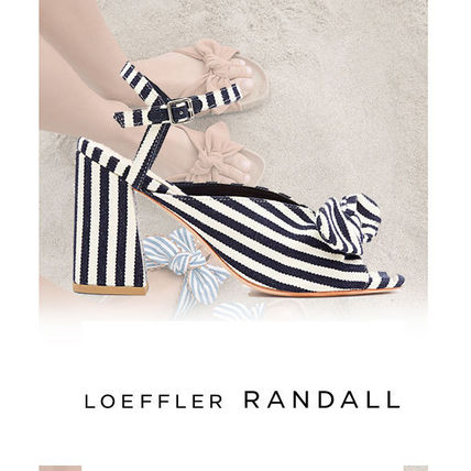 Round Toe Casual Style Bi-color Leather Block Heels