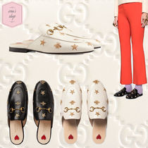GUCCI Princetown Casual Style Blended Fabrics Chain Other Animal Patterns