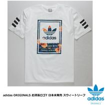 adidas Crew Neck Tropical Patterns Street Style Cotton