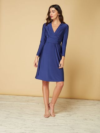 ... Issa London Dresses V-Neck Long Sleeves Plain Medium Dresses 2 ... f8f2d76800d