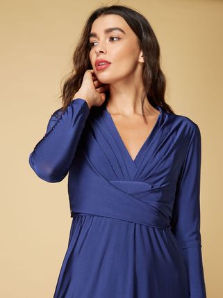 ... Issa London Dresses V-Neck Long Sleeves Plain Medium Dresses 4 ... 29adc25928b