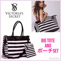Victoria's secret Stripes Casual Style A4 Totes