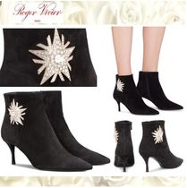Roger Vivier Star Suede Pin Heels With Jewels Elegant Style