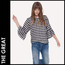 THE GREAT Gingham Casual Style Street Style Cropped Cotton Medium