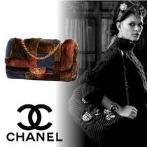 CHANEL Fur 2WAY Chain Elegant Style Shoulder Bags