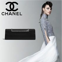 CHANEL Studded Plain Home Party Ideas Elegant Style Clutches