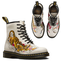 Dr Martens Round Toe Rubber Sole Lace-up Casual Style Street Style