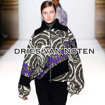 Dries Van Noten Short Stripes Flower Patterns Elegant Style Bomber Jackets