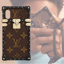 Louis Vuitton MONOGRAM Monogram Blended Fabrics Studded Bi-color Smart Phone Cases