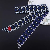 Stripes Heart Casual Style Lightweight Scarves & Shawls