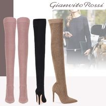 Gianvito Rossi Casual Style Pin Heels Over-the-Knee Boots
