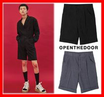 OPEN THE DOOR Casual Style Unisex Street Style Cotton