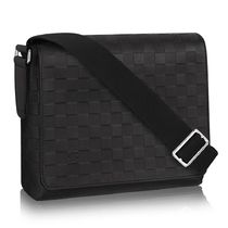 Louis Vuitton DAMIER INFINI Other Plaid Patterns Blended Fabrics Street Style A4 Plain