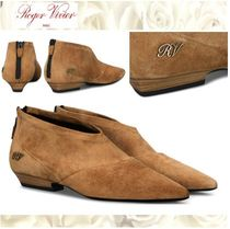 Roger Vivier Monogram Casual Style Suede Ankle & Booties Boots