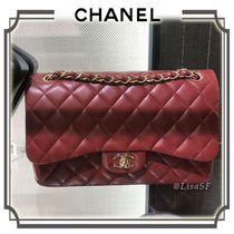 CHANEL MATELASSE Calfskin 3WAY Chain Plain Elegant Style Shoulder Bags