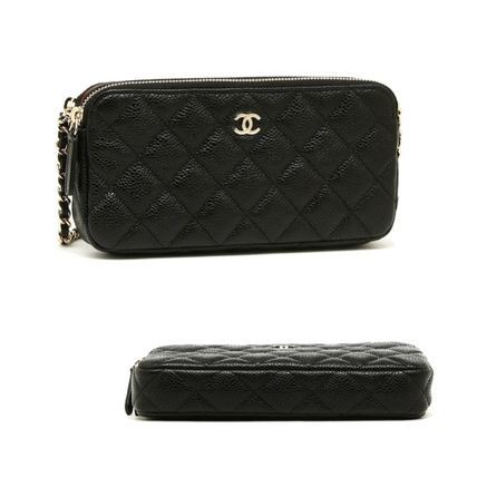 CHANEL Shoulder Bags Lambskin 2WAY Chain Plain Party Style Shoulder Bags 3