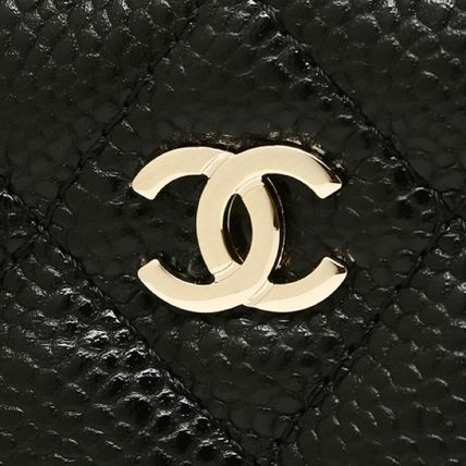 CHANEL Shoulder Bags Lambskin 2WAY Chain Plain Party Style Shoulder Bags 8