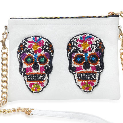 Skull Unisex 2WAY Leather Party Style Shoulder Bags