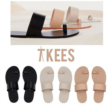 Platform Casual Style Plain Leather Platform & Wedge Sandals