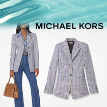 Michael Kors Other Check Patterns Casual Style Wool Outerwear