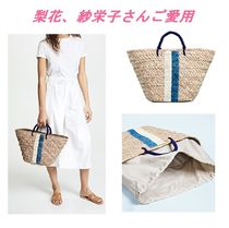 Ron Herman Stripes Casual Style Straw Bags