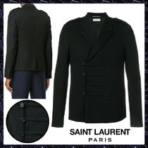 Saint Laurent Short Wool Plain Duffle Coats