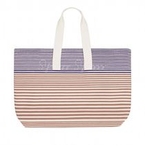 HERMES Stripes Casual Style Unisex Canvas Street Style A4 2WAY