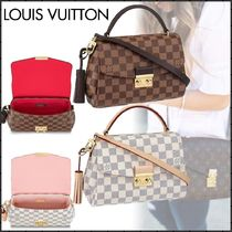Louis Vuitton DAMIER Other Check Patterns Canvas Blended Fabrics Tassel 2WAY