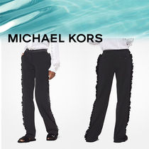 Michael Kors Wool Plain Fringes Pants