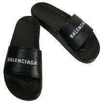 BALENCIAGA Street Style Plain Shower Shoes Shower Sandals