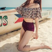 Flower Patterns Street Style Bi-color Beach Cover-Ups