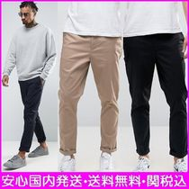 ASOS Tapered Pants Plain Cotton Tapered Pants