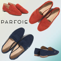 PARFOIS Faux Fur Elegant Style Loafer Pumps & Mules