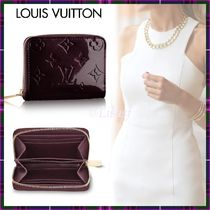 Louis Vuitton MONOGRAM VERNIS Monogram Blended Fabrics Leather Bold Small Wallet