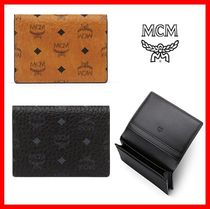 MCM Street Style Leather Card Holders