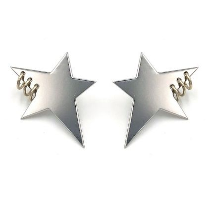 Star Unisex Plain Earrings