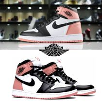 Nike JORDAN 1 Street Style Leather Sneakers
