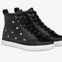 HERMES Garden Party Rubber Sole Casual Style Leather Low-Top Sneakers